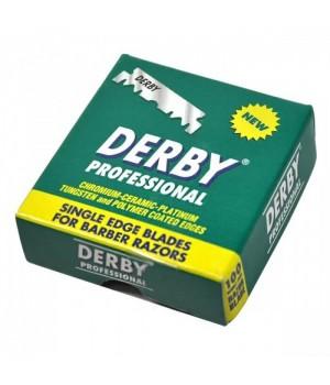 Сменные лезвия для бритвы-шаветт, Derby Pro, 100 лезвий в упаковке