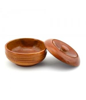 Деревянная чаша для бритья с крышкой KURT, каучуковое дерево
