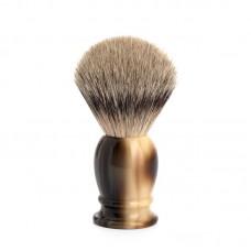 Помазок MUEHLE CLASSIC, барсучий ворс высшей категории Silvertip, смола, цвет рога, размер M