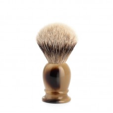 Помазок MUEHLE CLASSIC, барсучий ворс высшей категории Silvertip, смола, цвет рога, размер S