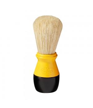 Желтый помазок Omega, щетина кабана, пластик
