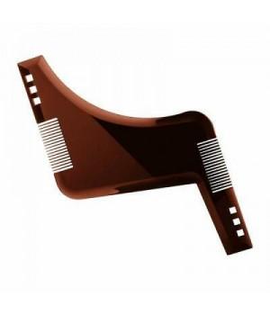 Лекало KURT для формирования линий бороды 4 в 1, коричневый пластик