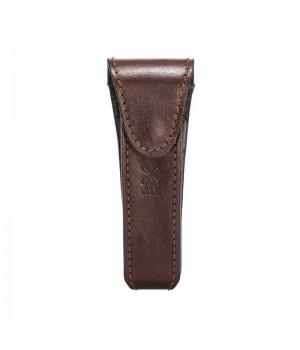 Дорожный чехол для Т-образной бритвы MUEHLE, коричневая кожа