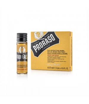 Горячее масло для бороды Proraso 4x17 мл