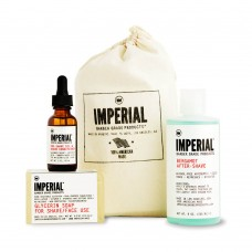 Подарочный набор Imperial Barber, лосьон, масло и мыло