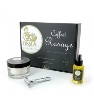 Подарочный набор для бритья OSMA, станок, мыло, масло до бритья