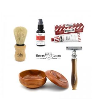 Набор для классического бритья Edwin Jagger Chatsworth, цвет рога