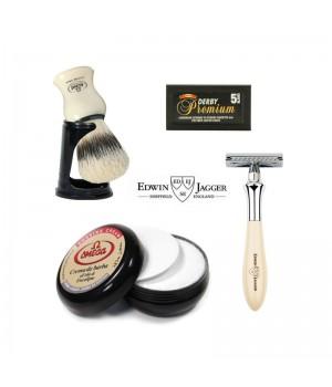 Набор для бритья Edwin Jagger Plaza, цвета слоновой кости