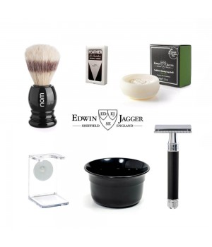 Набор для бритья Edwin Jagger Черная смола